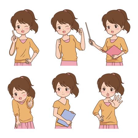 overjoyed: girl_pose  Illustration