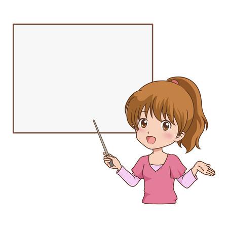 女の子ガイド  イラスト・ベクター素材