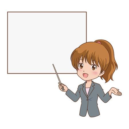 vrouw gids Stock Illustratie