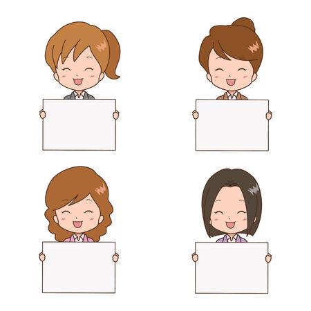 woman guide Illustration