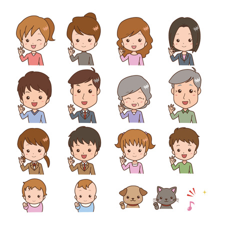people OK expression  Vector