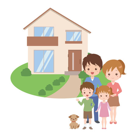 family house Stock Vector - 26173719