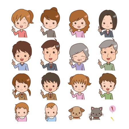 Various people point Vector