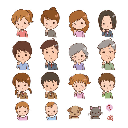 Various people think illustration  Vector