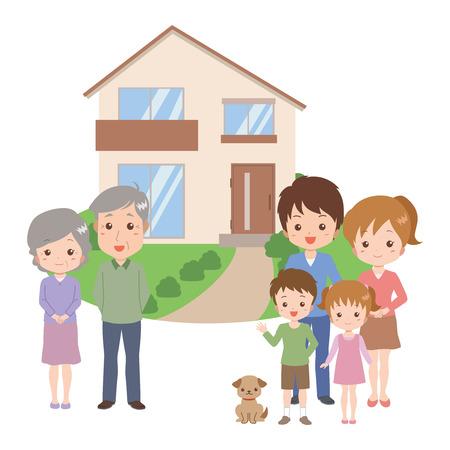家族の家  イラスト・ベクター素材