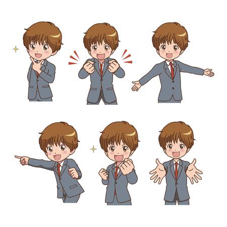 boy_pose  Иллюстрация