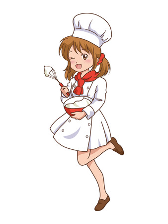 girl_cooking  Vector