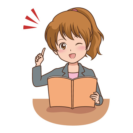 file clerk: woman_book