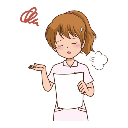 healthcare worker: woman_sigh Illustration