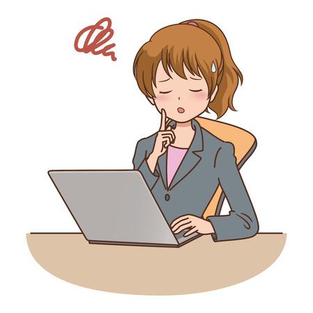 file clerk: woman_computer