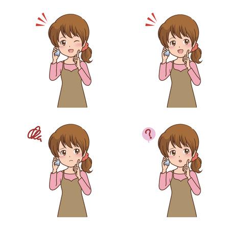 illustrate i: girl phone
