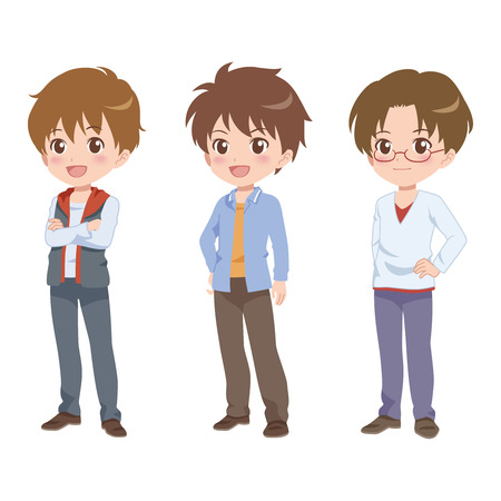 the whole body: boy pose Illustration