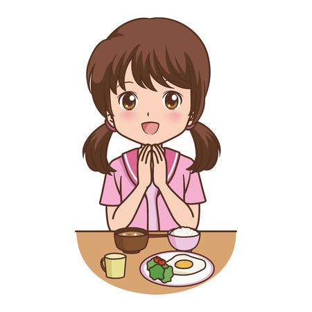 fried rice: girl eat