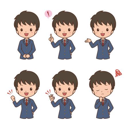 boy pose  イラスト・ベクター素材