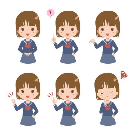 communication cartoon: girl pose