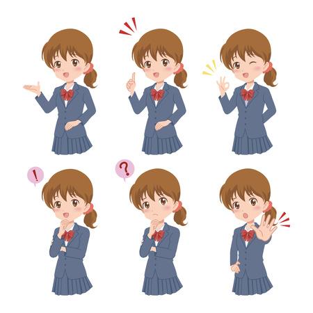 upper school: girl pose