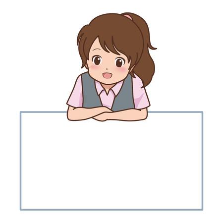 vrouw poseren  Stock Illustratie