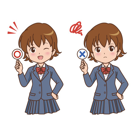 school bills: girl pose