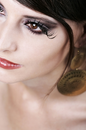 Professional Make up with fake lashes photo