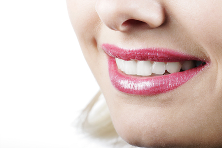 tantalising: Beautiful smile of a woman in a close up shot