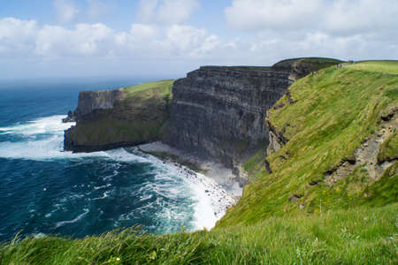 moher: Idyllic View of Cliffs of Moher Against Sea
