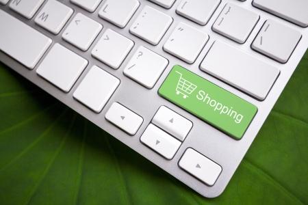 Keyboard - Shopping button Stock fotó