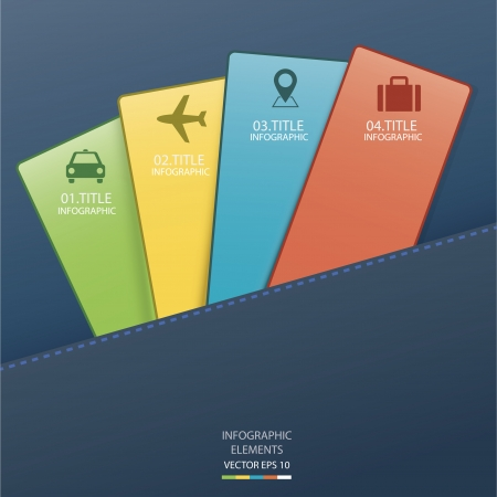 Infographic card   Vector