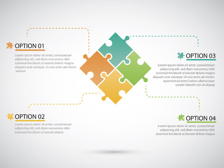 Puzzle piece infographics businessFiles Vector