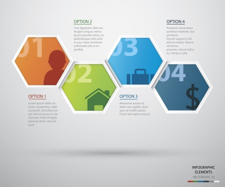 Hexagon infographicFiles Vector