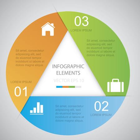 Circle Infographic Files inbegrepen: - EPS10 vector - AI CS vector - Hoge resolutie Jpeg Shadow zijn gemaakt met transparantie Vermenigvuldigen. Stock Illustratie