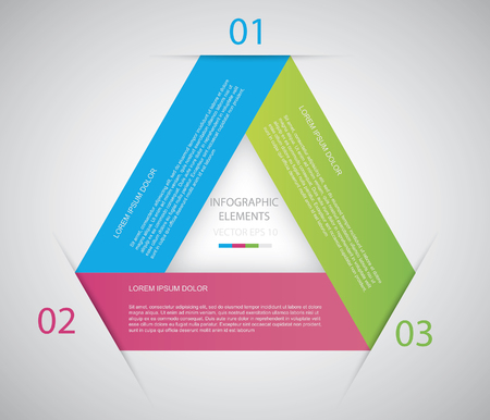 cs: Triangle Infographic  Files included:  -  EPS10 vector -  AI CS vector -  High resolution Jpeg  Shadow are made with transparency set to Multiply.  Illustration