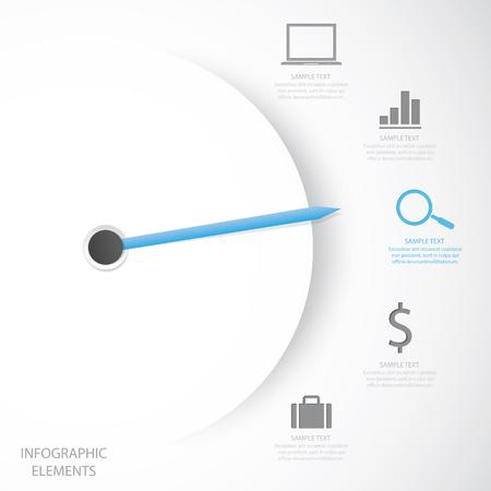 Zakelijk infographic