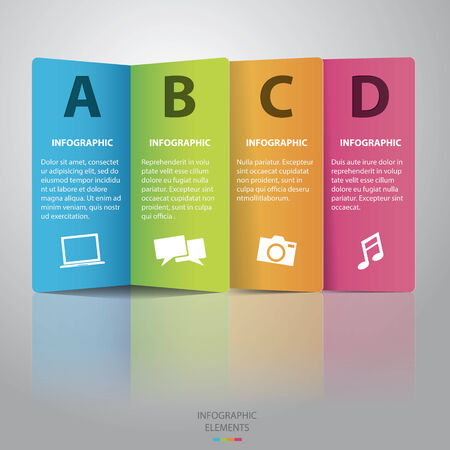 Colorful paper Infographic-Vector Vector