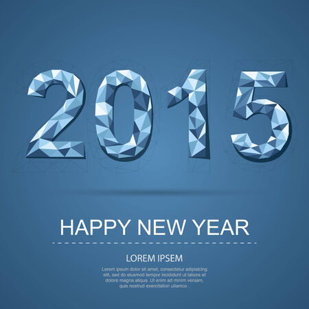 Gelukkig Nieuwjaar 2015 Stock Illustratie