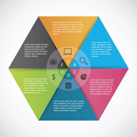 Infographics  hexagon paper