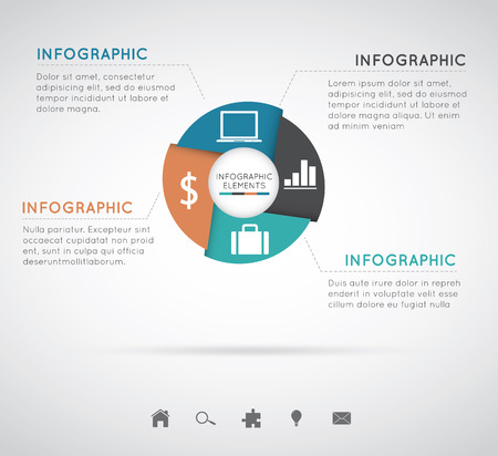 Modern Infographics circleEasy to Edit , adjust color and size. Vector