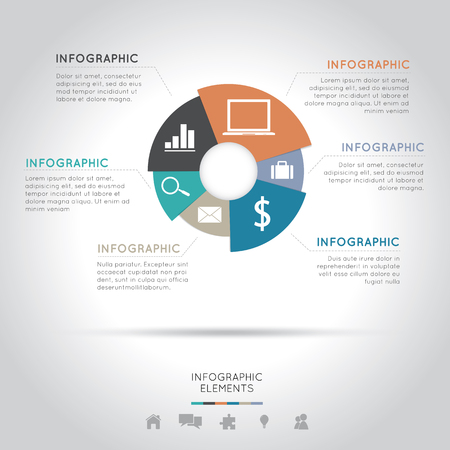Modern Infographics Easy to Edit , adjust color and size. Vector