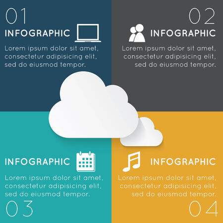 adjust: Cloud Computing  Infographics Easy to Edit , adjust color and size.
