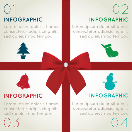 adjust: Christmas Infographics Easy to Edit , adjust color and size.