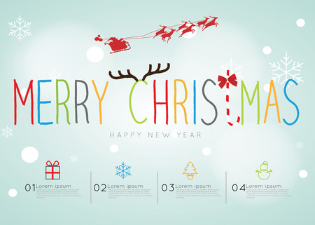 Merry Christmas Infographic  Easy to Edit , adjust color and size.