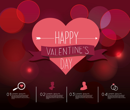 adjust: Valentines Day Infographic  Easy to Edit , adjust color and size.