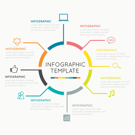Modern Infographics circle  Easy to Edit , adjust color and size.