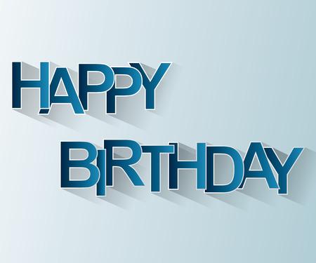 happy birthday: Birthday Card Buon facile da modificare, colore e dimensione. Vettoriali