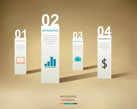 3d icons: Modern Infographics Illustration