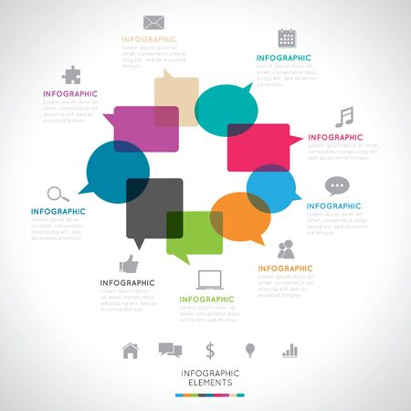 social network icon: Modern Infographics Illustration
