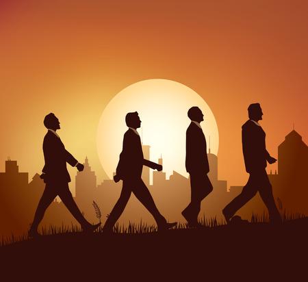 walking: Business man Walking