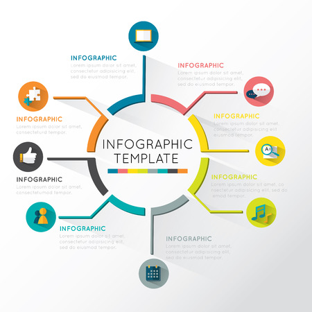 Moderní Infografiky kruh