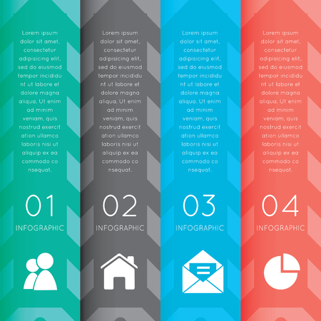 part time: colorful labels with sequence of steps - vector infographic banners.  This vertical graphic can be used in marketing materials, websites & webdesigns,  business presentations, advertising, etc.