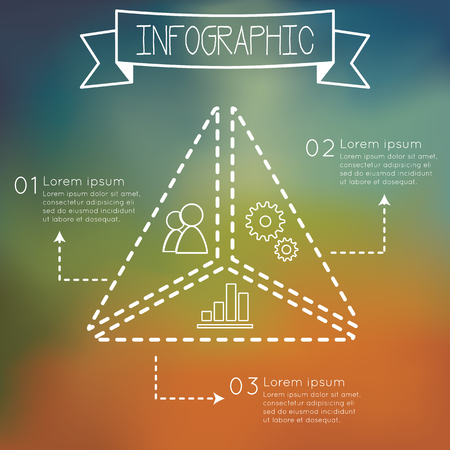 indentation: Modern infographic triangle shape number options banner.