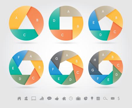 Modern infographics banner, vector illustratie. Kan gebruikt worden voor workflow lay-out, diagram, aantal opties, web design. Stock Illustratie